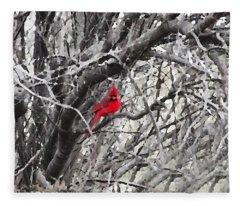 Tree Ornament Fleece Blanket