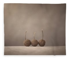 Tree Seed Pods Fleece Blanket