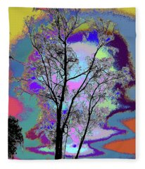 Tree - Story Of Life Fleece Blanket