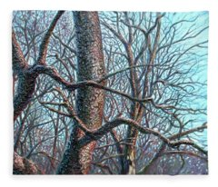 Tree Study Fleece Blanket
