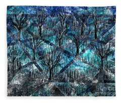 Treed Fleece Blanket