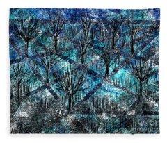 Treed Fleece Blanket