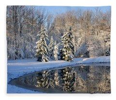 Treeflections Fleece Blanket