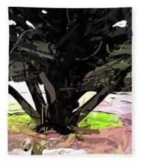 Trees 1 Fleece Blanket