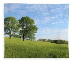 Summer Trees 3 Fleece Blanket