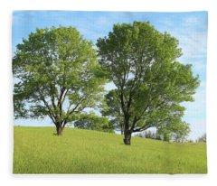 Summer Trees 4 Fleece Blanket