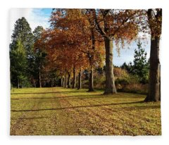 Trees At The Park Fleece Blanket