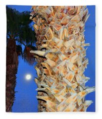 Trees Capture Sun Fleece Blanket