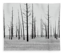 Trees Die Off Fleece Blanket