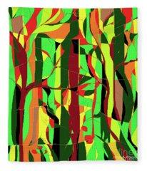 Trees In The Garden Fleece Blanket