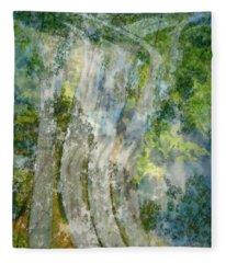 Trees Over Highway Fleece Blanket
