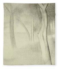 Trees  Study For La Grande Jatte Fleece Blanket