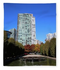 Trees To Breathe In The City Fleece Blanket