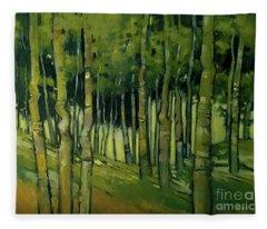 Treesong Summer Fleece Blanket