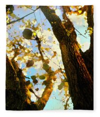 Treetop Abstract-look Up A Tree Fleece Blanket