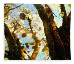 Treetop Abstract-look Up A Tree Fleece Blanket