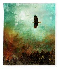 Treetop Eagle Flight Fleece Blanket