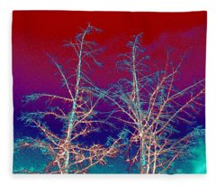 Treetops 4 Fleece Blanket
