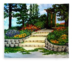 Trellace Gardens Fleece Blanket