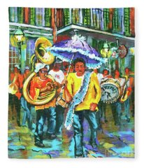 Treme Brass Band Fleece Blanket