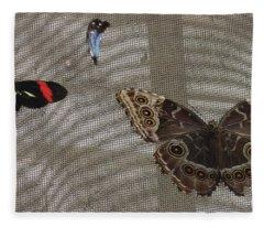 Three Winged Amigos  Fleece Blanket