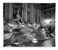 Trevi Fountain Night 2 Fleece Blanket