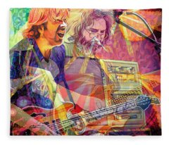 Trey Channeling Cosmic Jerry Fleece Blanket