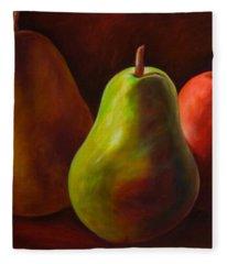 Tri Pear Fleece Blanket