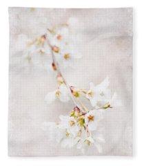 Triadelphia Cherry Blossoms Fleece Blanket
