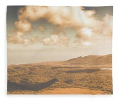 Trial Harbour Landscape Panorama Fleece Blanket