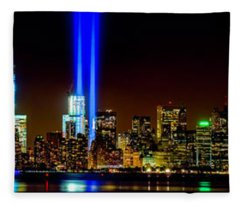 Tribute In Light From Bayonne Fleece Blanket