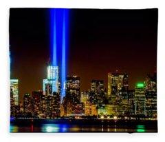 Tribute In Light From Bayonne Fleece Blanket