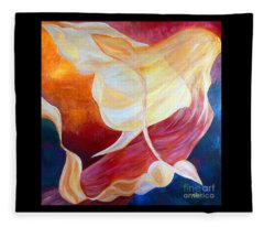 Tribute To An Angel Fleece Blanket