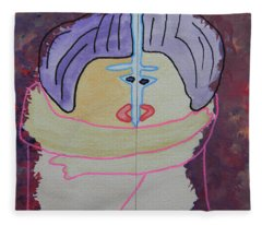Tribute To C. Brancusi Fleece Blanket
