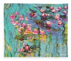Tribute To Monet II Fleece Blanket