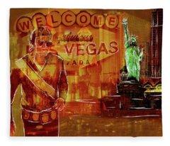 Tribute To Vegas Collage Fleece Blanket