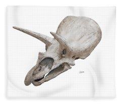 Triceratops Skull Fleece Blanket