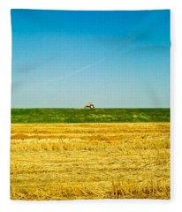 Tricolor With Tractor Fleece Blanket
