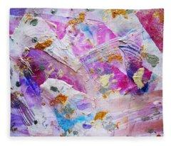 Trilogy Painting  Fleece Blanket