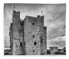 Trim Castle , Co Meath 2 Fleece Blanket