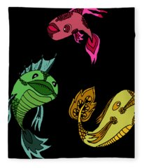 Trio Fish Fleece Blanket