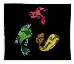 Trio Fish Fleece Blanket