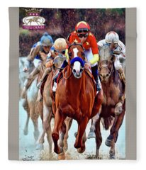 Triple Crown Winner Justify 2 Fleece Blanket