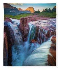 Triple Falls Cascades Fleece Blanket