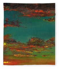 Triptych 3 Fleece Blanket
