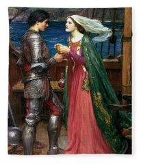 Tristan And Isolde With The Potion Fleece Blanket