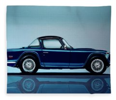 Triumph Tr5 1968 Painting Fleece Blanket