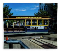 Trolley Car Turn Around Fleece Blanket