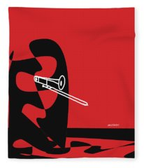 Trombone In Red Fleece Blanket