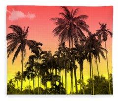 Tropical 9 Fleece Blanket